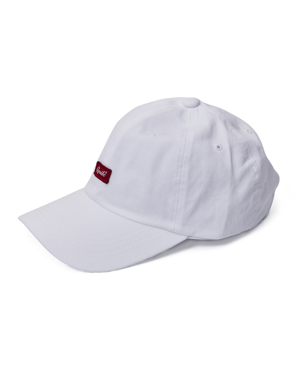 SCRIPT RED BOX BALLCAP | WHITE