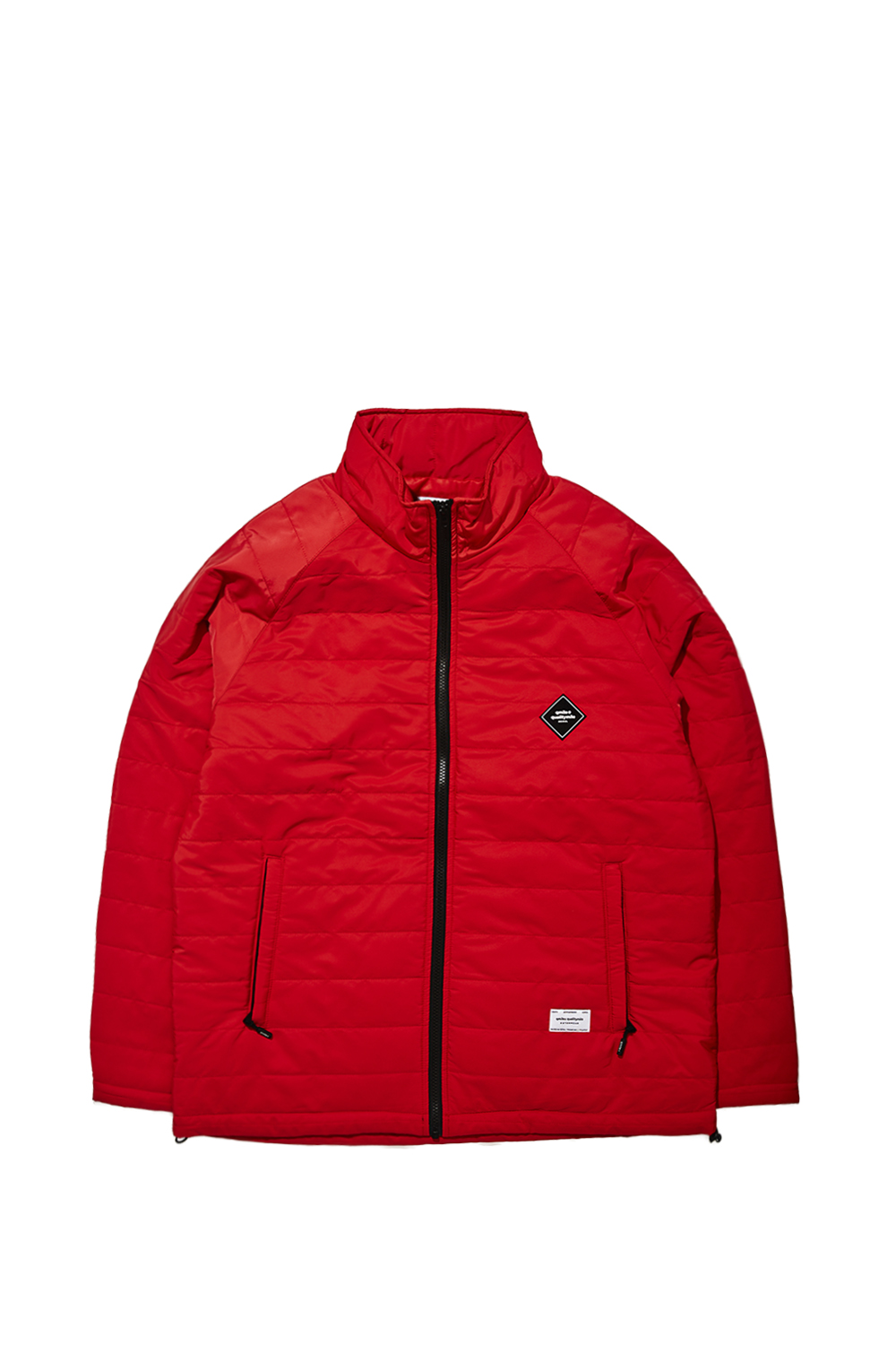 STRIPE QUILTING JACKET | RED