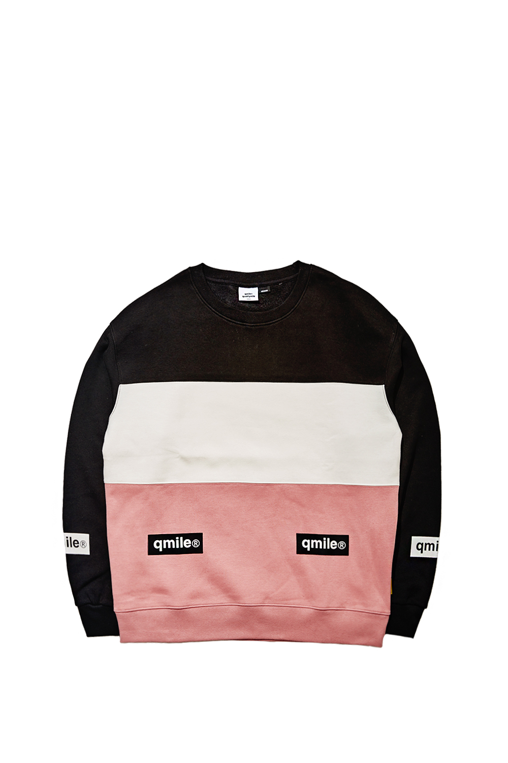 TRIPPLE COLORING CREWNECK | PINK/WHITE/BLACK