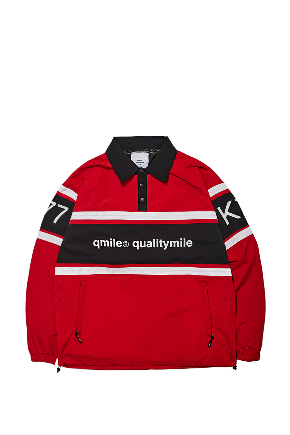 COLLAR PULLOVER WINDBRAKER | RED