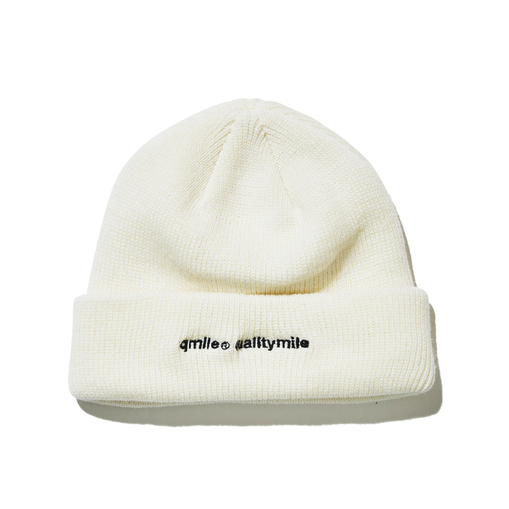 722 EMBROIDERY BEANIE 	WHITE