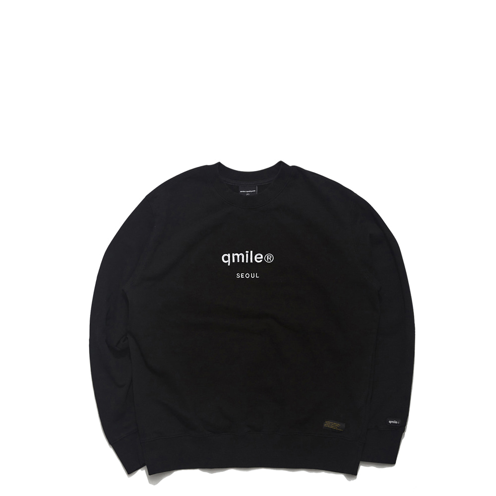 58A HLTDOK™ QS EMBROIDERY CREWNECK BLACK