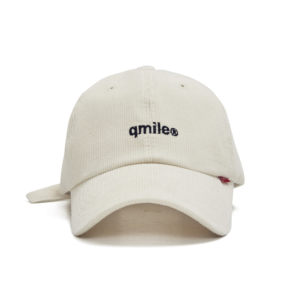 81A EMBROIDERY CORDUROY CAP IVORY