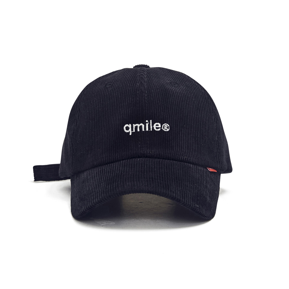 81B EMBROIDERY CORDUROY CAP BLACK