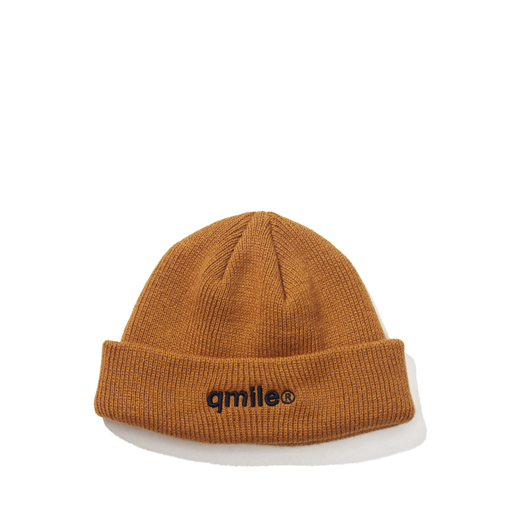 TYMAX LOGO EMBROIDERY BEANIE MUSTARD
