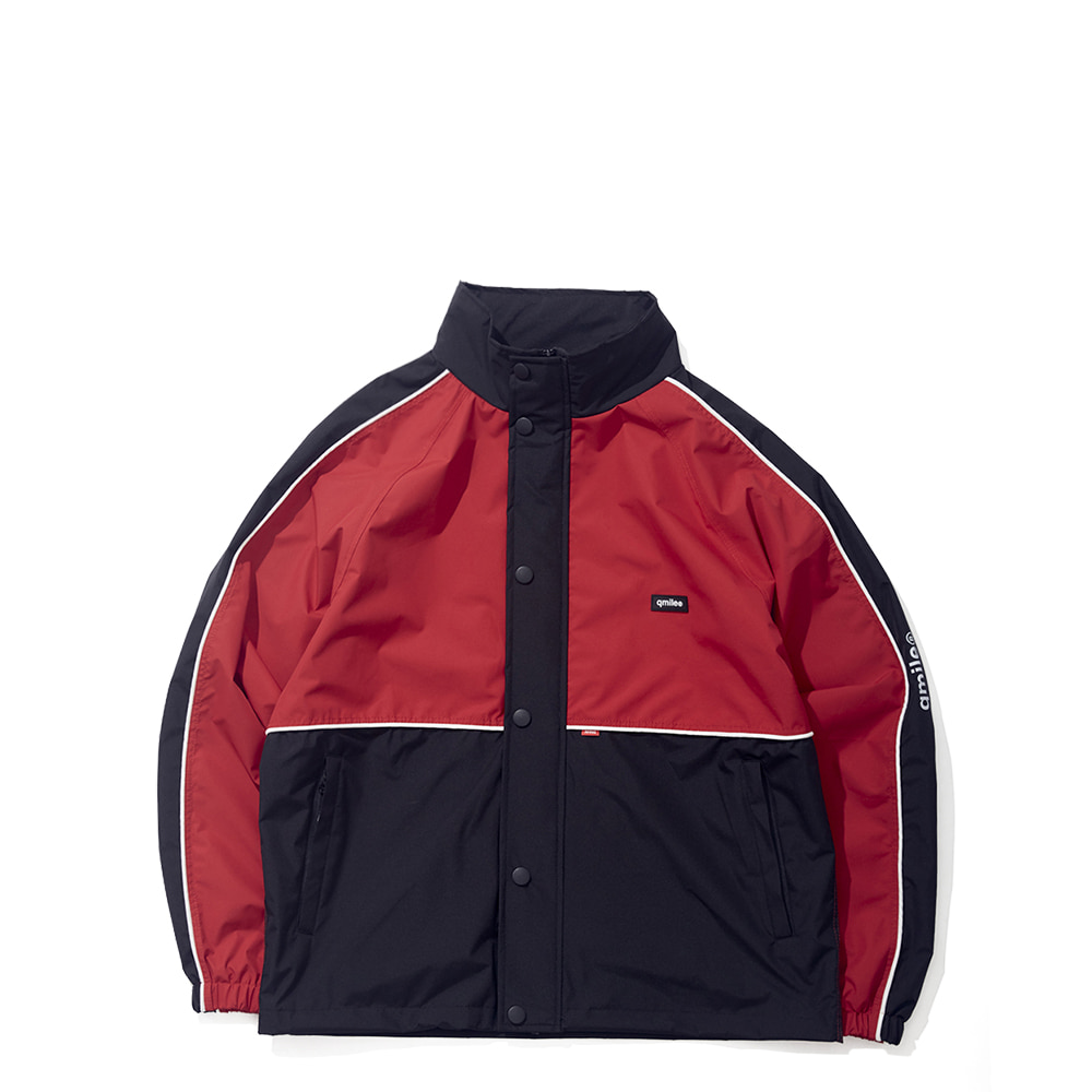 35B HALF BLOCK JACKET RED / BLACK